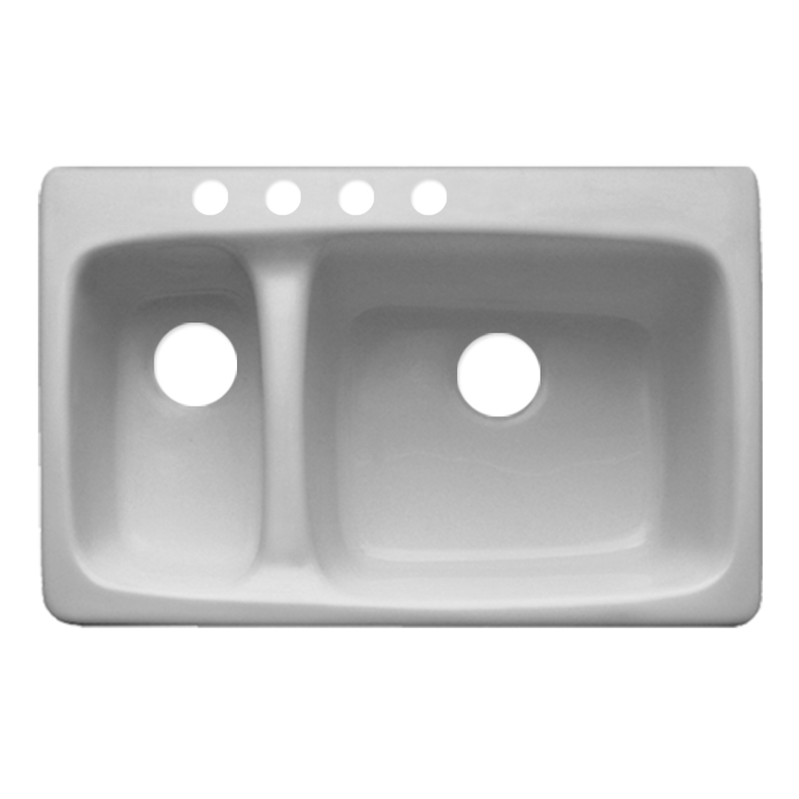Acrylic Kitchen Sinks : ... Barrington Double-Basin Drop-in Acrylic Kitchen Sink at Lowes.com