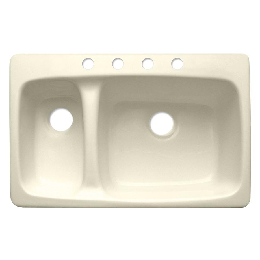 16. ... Zoom In Corstone Barrington Double Basin Drop In Acrylic Kitchen  Sink
