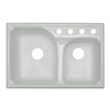 CorStone Avondale Double-Basin Drop-in Acrylic Kitchen Sink