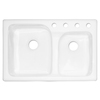 CorStone Providence Double-Basin Drop-in Acrylic Kitchen Sink