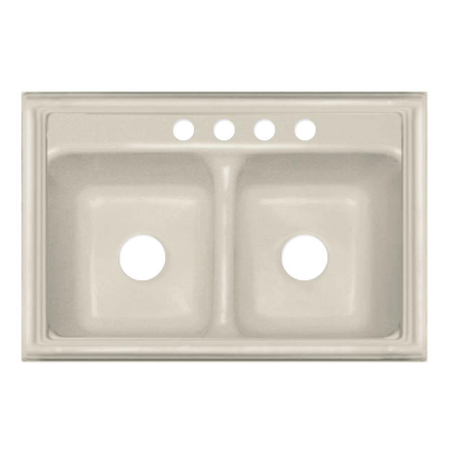 Acrylic Kitchen Sinks : ... Jamestown Double-Basin Drop-in Acrylic Kitchen Sink at Lowes.com