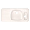 CorStone Wakefield Double-Basin Drop-in Acrylic Kitchen Sink