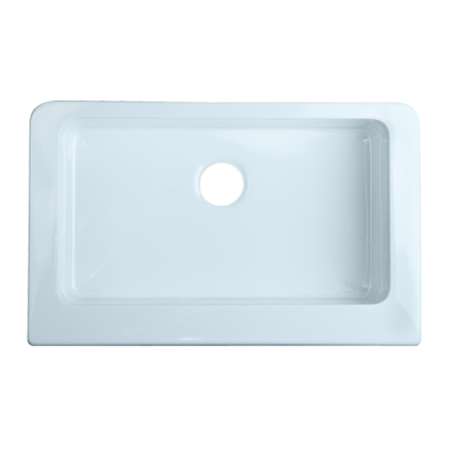 Lowes Farmhouse Sink : ... Single-Basin Apron front/Farmhouse Acrylic Kitchen Sink at Lowes.com