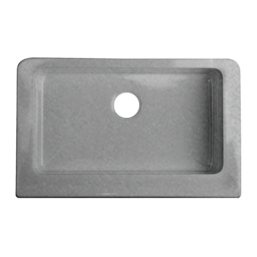 Shop Corstone Metallic Silver Single Basin Acrylic Apron