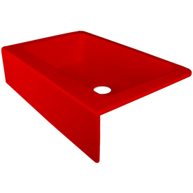 Red Kitchen Sink : ... Red Single-Basin Acrylic Apron Front/Farmhouse Kitchen Sink at Lowes