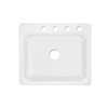 CorStone Phenix Single-Basin Drop-in Acrylic Kitchen Sink