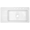 CorStone Sakonnet Single-Basin Drop-in Acrylic Kitchen Sink