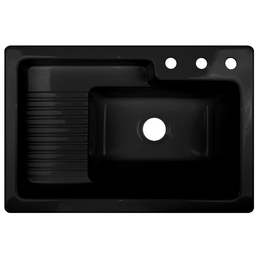 Black Laundry Tub : Shop CorStone Black Acrylic Self-Rimming Laundry Sink at Lowes.com
