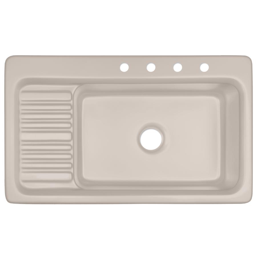 Shop CorStone Greystone Single-Basin Drop-in Acrylic ...