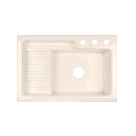 CorStone Greystone Single-Basin Drop-in Acrylic Kitchen Sink