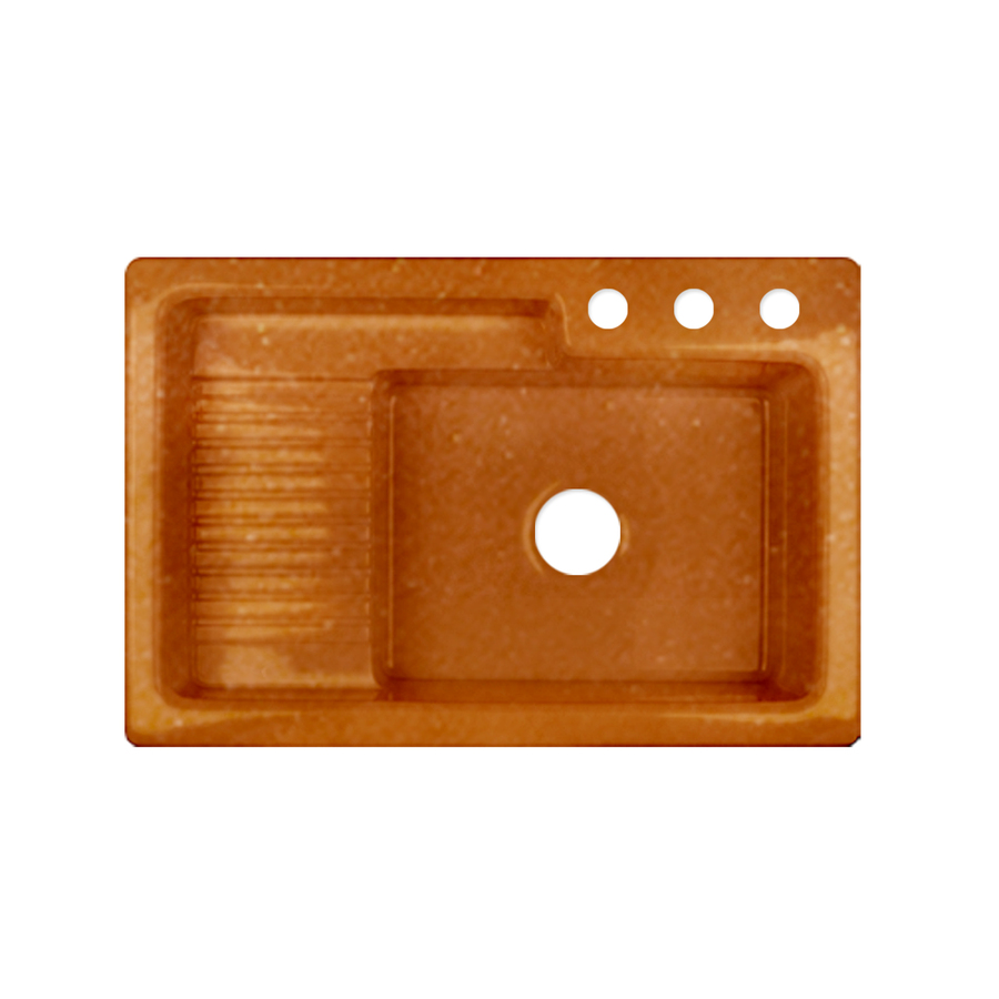 ... zoom in corstone greystone single basin drop in acrylic kitchen sink