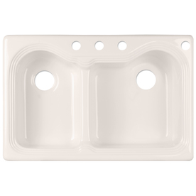 CorStone Bridlewood Double-Basin Drop-in Acrylic Kitchen Sink