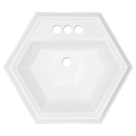 ... Acrylic Drop-In Hexagonal Bathroom Sink with Overflow at Lowes.com