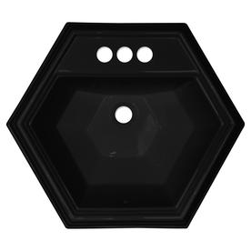 Shop CorStone Edgefield Gloss Black Acrylic Drop-In ...
