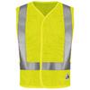 Bulwark Medium Yellow/Green Modacrylic/Aramid High Visibility Reflective Flame Resistant Safety Vest