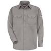 Bulwark Men's XXL-Long Grey Twill Modoacrylic Long Sleeve Dress Work Shirt