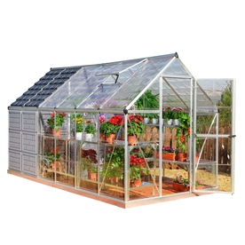 Palram 12-ft L x 6-ft W x 6-7/8-ft H Greenhouse and Shed Combo 701950