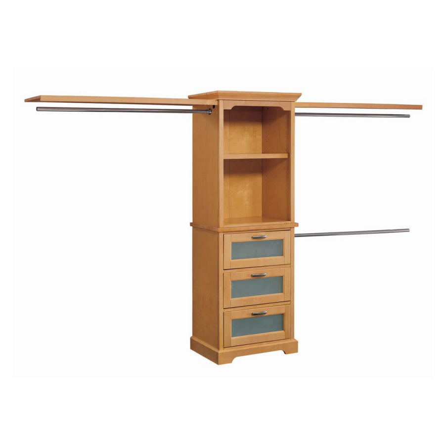 Shop Whalen Storage 10' Maple Hardwood Closet Organizer at ...