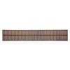 allen + roth 96-in W x 16-in D Cappuccino Wood Closet Shelf