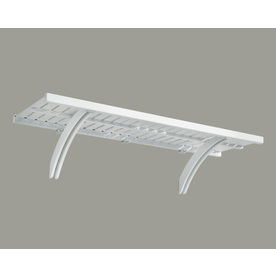 allen + roth 48-in x 16-in White Wood Closet Shelf Kit