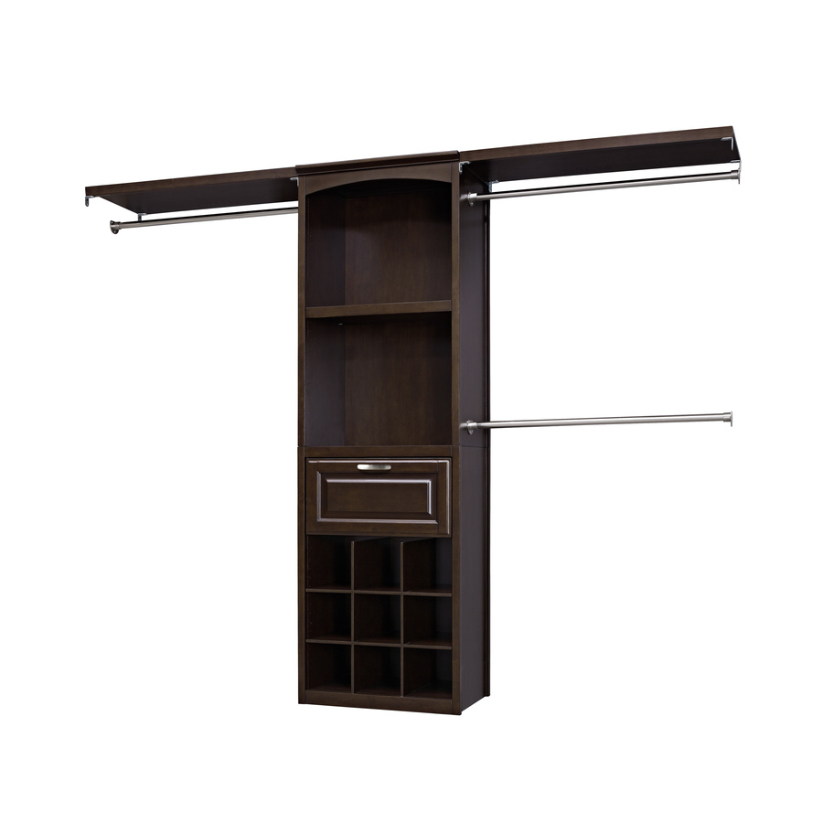 Shop Allen Roth 8 Ft Java Wood Closet Kit At Lowes Com