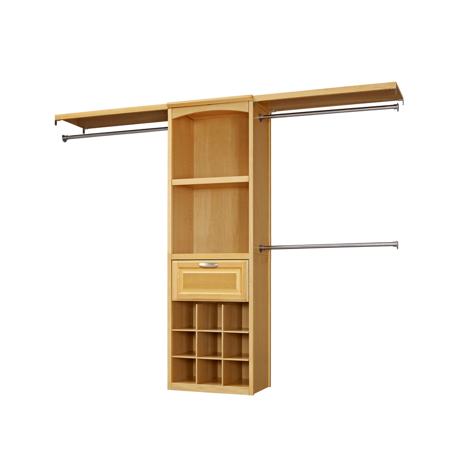 Shop Allen Roth 8 Ft Natural Wood Closet Kit At