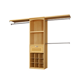 allen + roth 8-ft Natural Wood Closet Kit