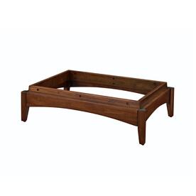 allen + roth 24-in Java Solid Wood Closet Pedestal Base