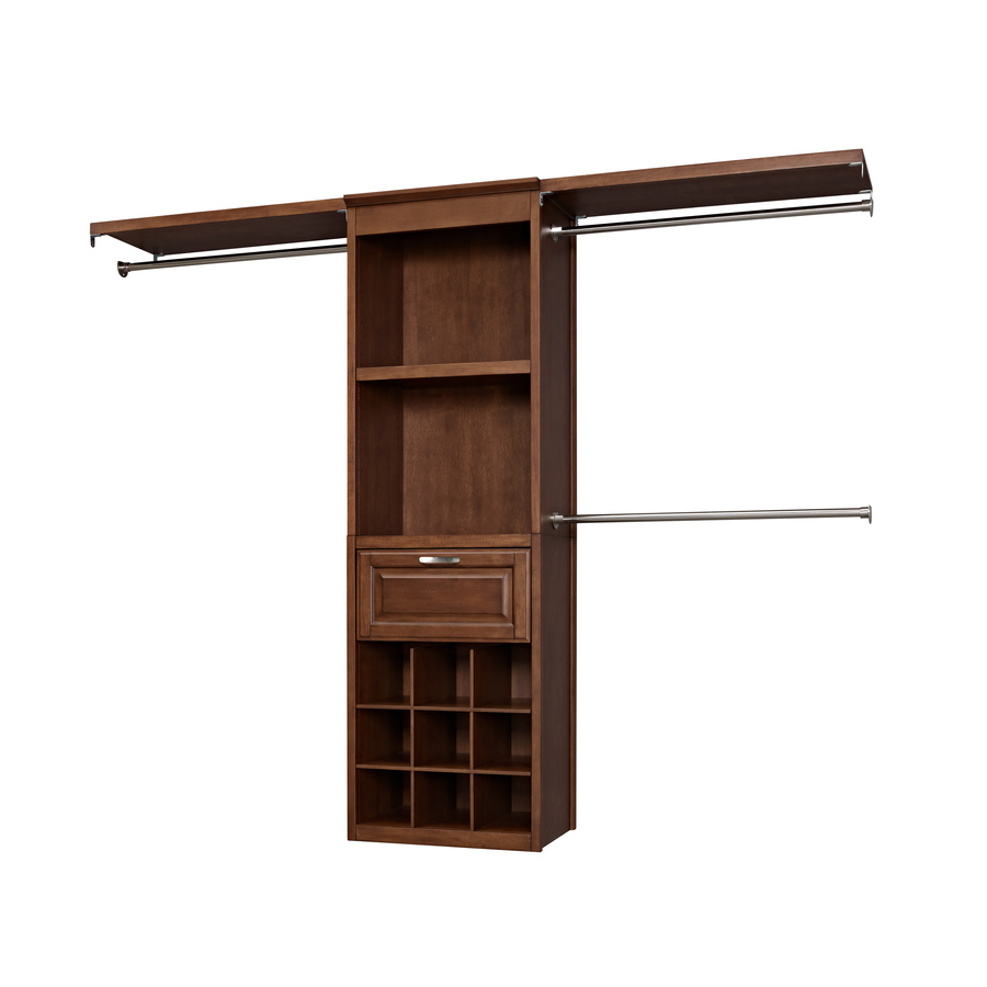 Shop Allen Roth 8 Ft Sable Wood Closet Kit At