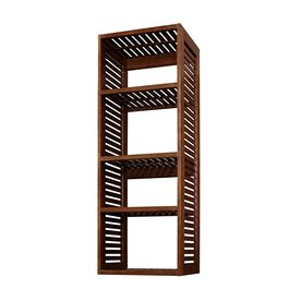 allen + roth 76-in Sable Wood Closet Tower