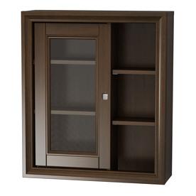 allen + roth Caterton 21.625-in W x 25-in H x 7-in D Java Poplar Bathroom Wall Cabinet