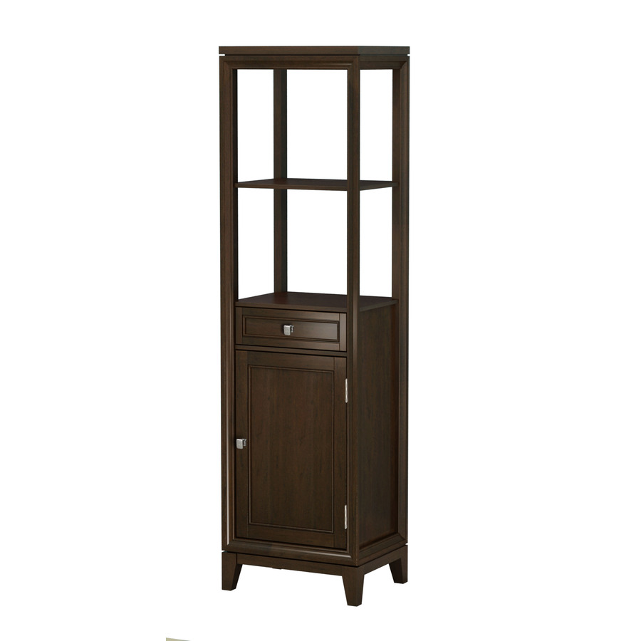 Shop allen roth caterton java linen cabinet common 18 in actual at - Allen roth bath cabinets ...