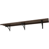 allen + roth 72-in W x 16-in D Java Wood Closet Shelf