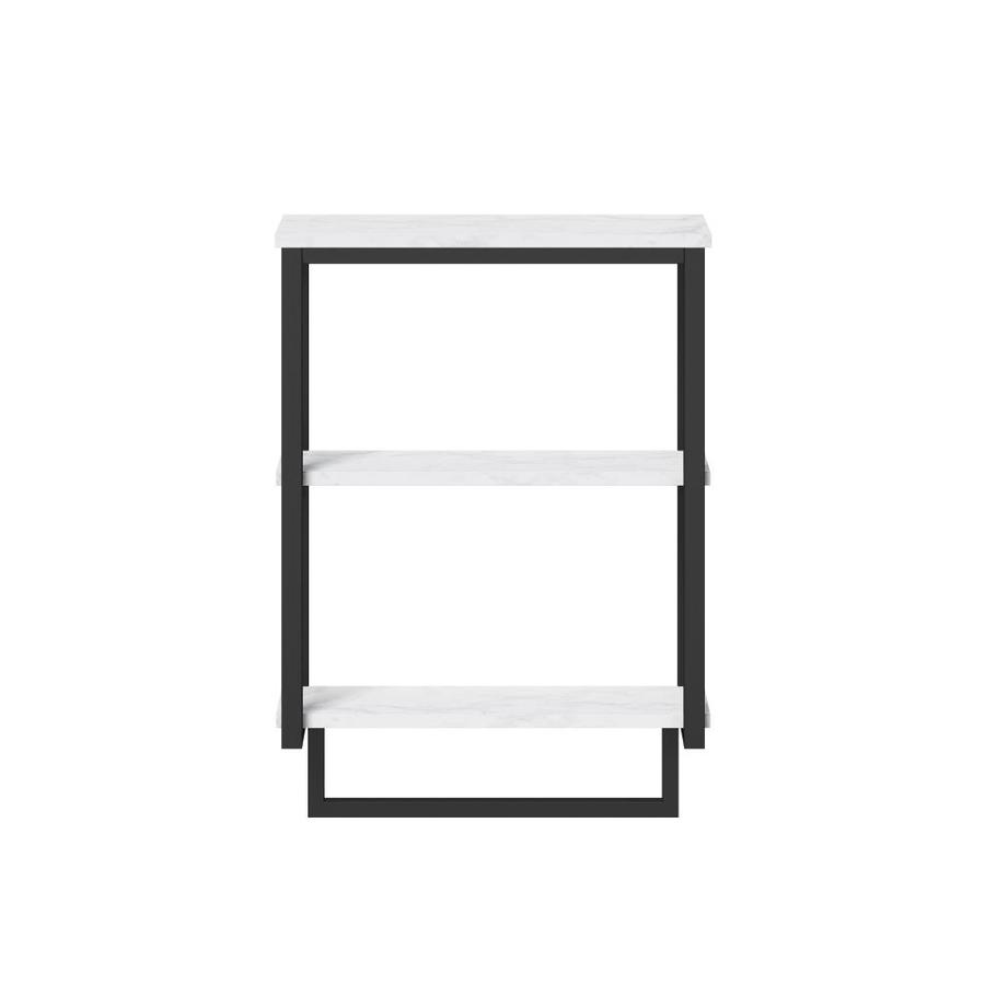 Style Selections Matte Black 2 Tier Composite Wall Mount Bathroom Shelf In The Bathroom Shelves Department At Lowes Com