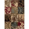 Artistic Weavers Columbus 63-in x 90-in Rectangular Brown/Tan Floral Area Rug