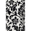 Artistic Weavers Torbay 60-in x 96-in Rectangular Black Floral Area Rug