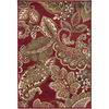 Artistic Weavers Canton Red Rectangular Indoor Woven Area Rug (Common: 8 x 11; Actual: 94-in W x 130-in L x 2.5-ft Dia)