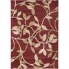 Artistic Weavers Kona Red Rectangular Indoor Woven Area Rug (Common: 5 x 8; Actual: 63-in W x 90-in L x 1.6-ft Dia)