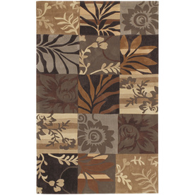 Artistic Weavers Mansfield Rectangular Brown Floral Tufted Area Rug (Common: 8-ft x 11-ft; Actual: 8-ft x 11-ft)