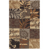Artistic Weavers Mansfield 96-in x 132-in Rectangular Brown/Tan Floral Area Rug