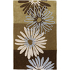 Artistic Weavers Cosmopolitan 60-in x 96-in Rectangular Brown/Tan Floral Area Rug
