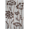 Artistic Weavers Wigan 60-in x 96-in Rectangular Gray/Silver Floral Area Rug