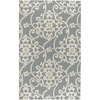 Artistic Weavers Swindon 60-in x 96-in Rectangular Gray/Silver Transitional Area Rug