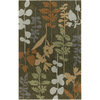 Artistic Weavers Oxford 60-in x 96-in Rectangular Green Floral Area Rug