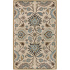 Artistic Weavers Worthing 96-in x 132-in Rectangular Cream/Beige/Almond Floral Area Rug