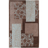 Artistic Weavers Grimsby 60-in x 96-in Rectangular Brown/Tan Floral Area Rug