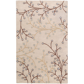 Artistic Weavers Hamilton 5-ft x 8-ft Rectangular White Transitional Wool Area Rug HAMILTON-A