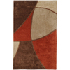 Artistic Weavers Cosmopolitan 60-in x 96-in Rectangular Brown/Tan Block Area Rug
