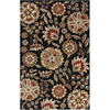 Artistic Weavers Napier 60-in x 96-in Rectangular Black Floral Area Rug