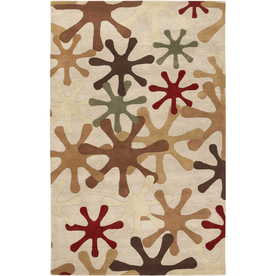 Artistic Weavers Hastings 5-ft x 8-ft Rectangular Cream Transitional Wool Area Rug HASTINGS-A